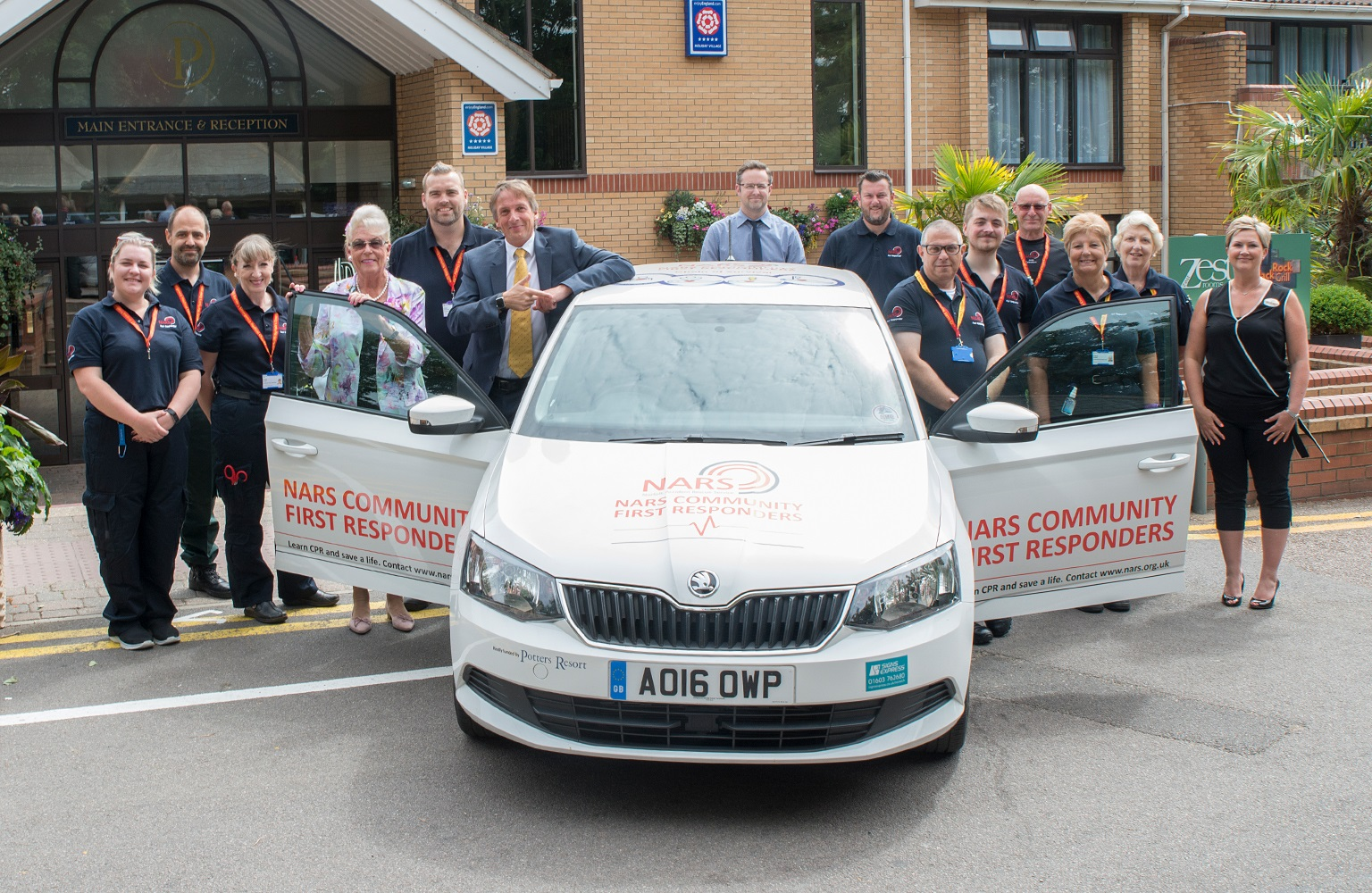 Potters Friends Foundation donates £10,000 for new car to save lives