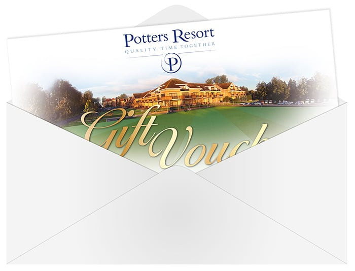 Gift vouchers for Potters Resort