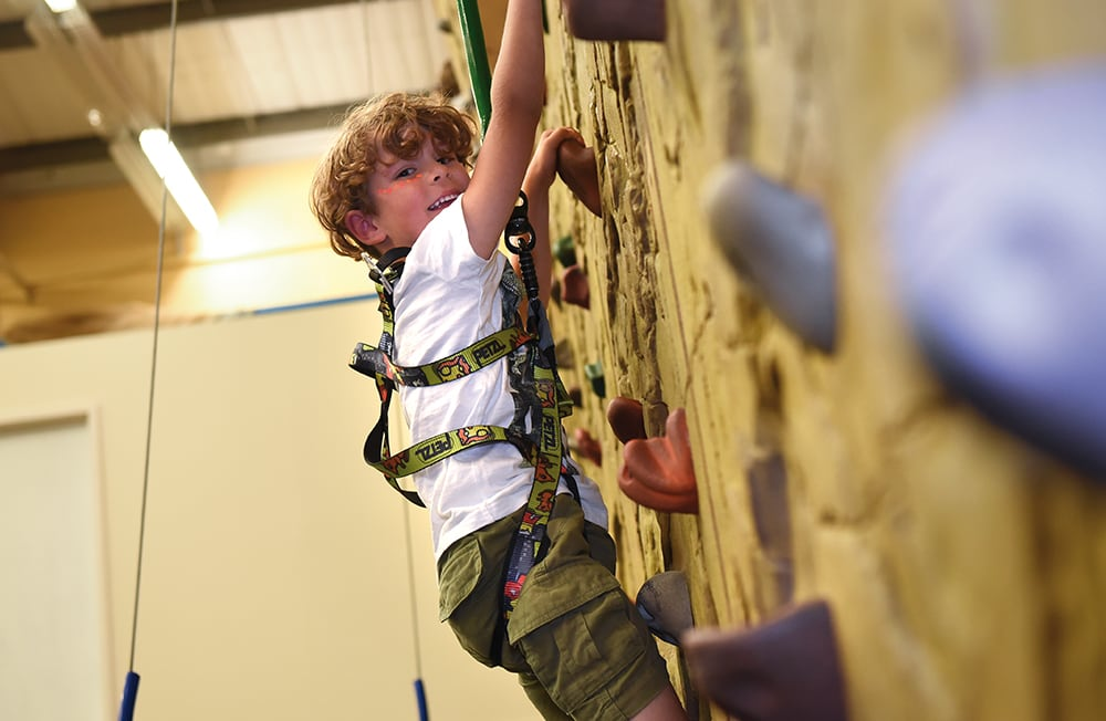 Climbing Wall at Potters Resort