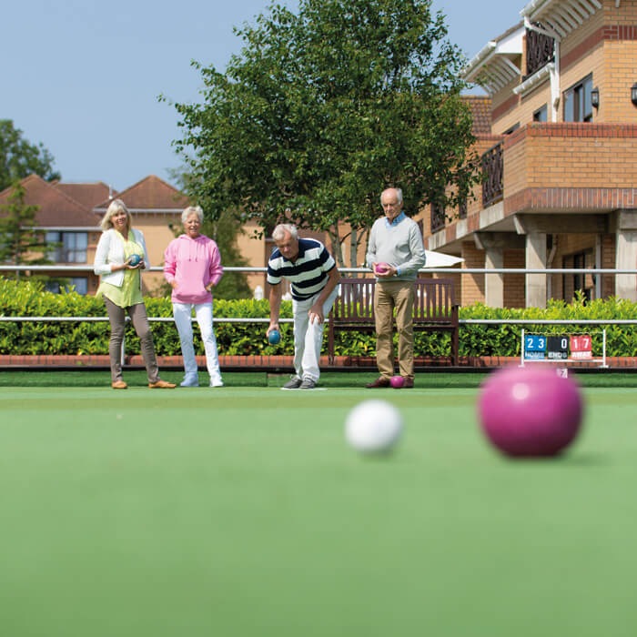 Outdoor Bowls at Potters Resort